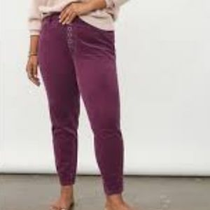 Pilcro High Rise Skinny Button Fly Corduroy Pants